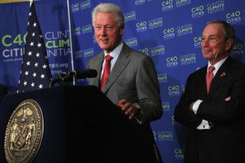 Bill Clinton and Mike Bloomberg