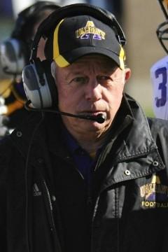 Albany head football coach Bob Ford