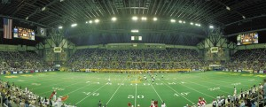 The Fargodome as it hosted Georgia Southern last year in the playoffs.