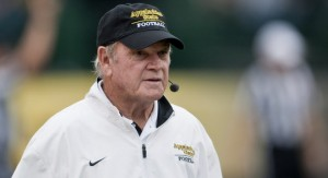 Jerry Moore won 242 games and three national titles in 31 season as the head football coach at Appalachian State.