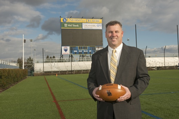 Delaware head football coach Dave Brock 2013