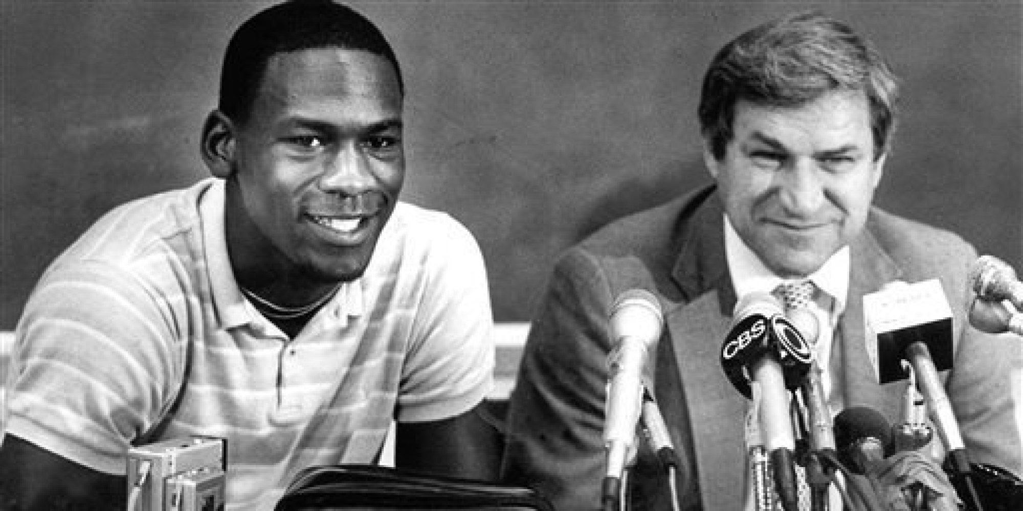 Dean Smith and Michael Jordan