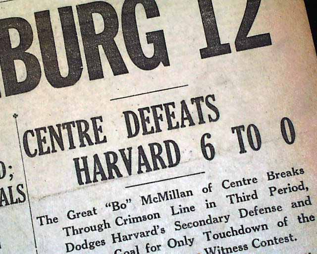 Harvard vs. Centre College Program, 1921