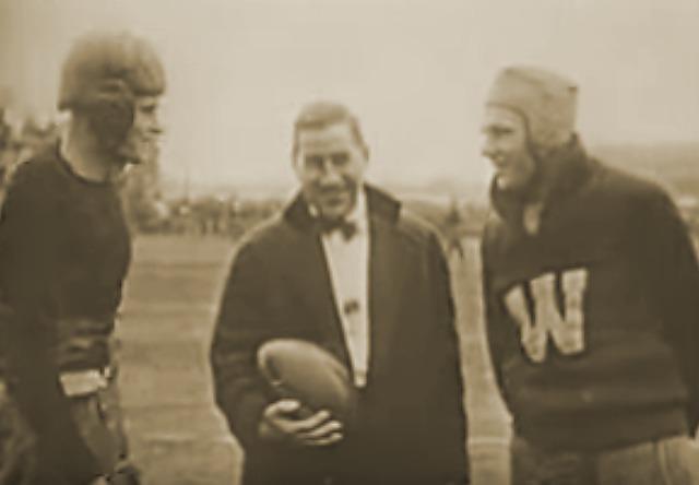 Kickoff of 1916 Rose Bowl