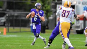 Peter Pujals enters his final season at Holy Cross with 7,809 career passing yards and 57 career touchdown passes. (Mark Seliger / HOLY CROSS)