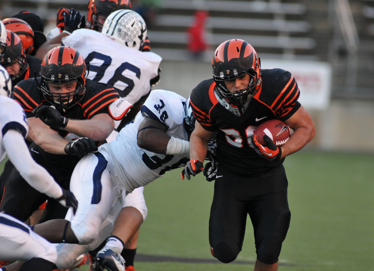 Joe Rhattigan was part of Princeton's rushing offense, which contributed 258 yards. (CONOR DUBE/Daily Princetonian)