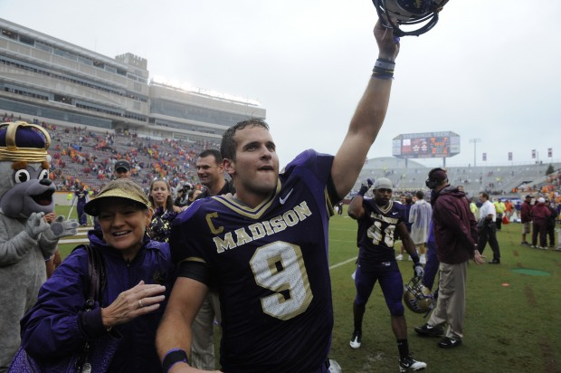 JMU QB Drew Dudzik over Virginia Tech, 2010