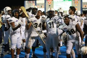 """Charlestion Southern LB Solomon Brown and """"The Broom."""""""