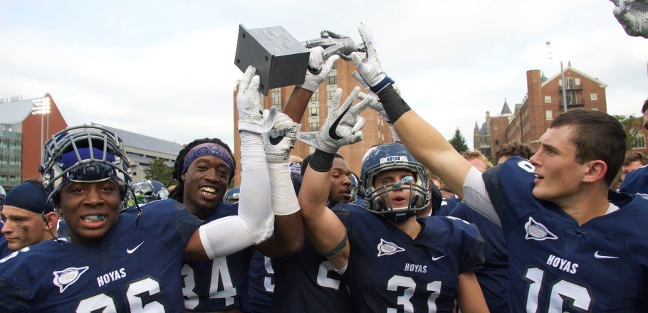 Georgetown Football 17, Columbia 14 September 24, 2016 Cooper Field | Washington, D.C. Celebration