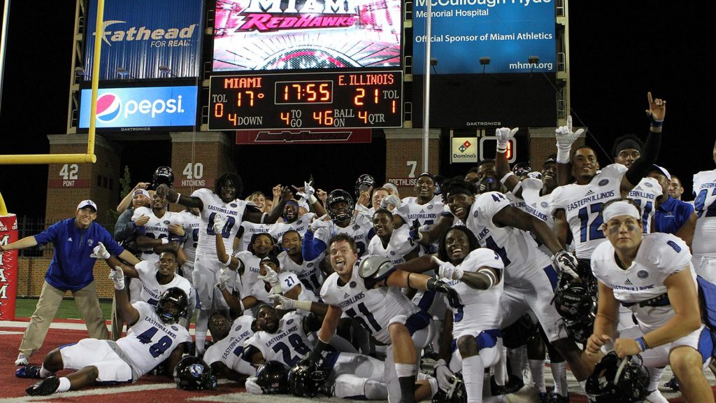 Eastern Illinois Celebrates over Miami (OH), 2016