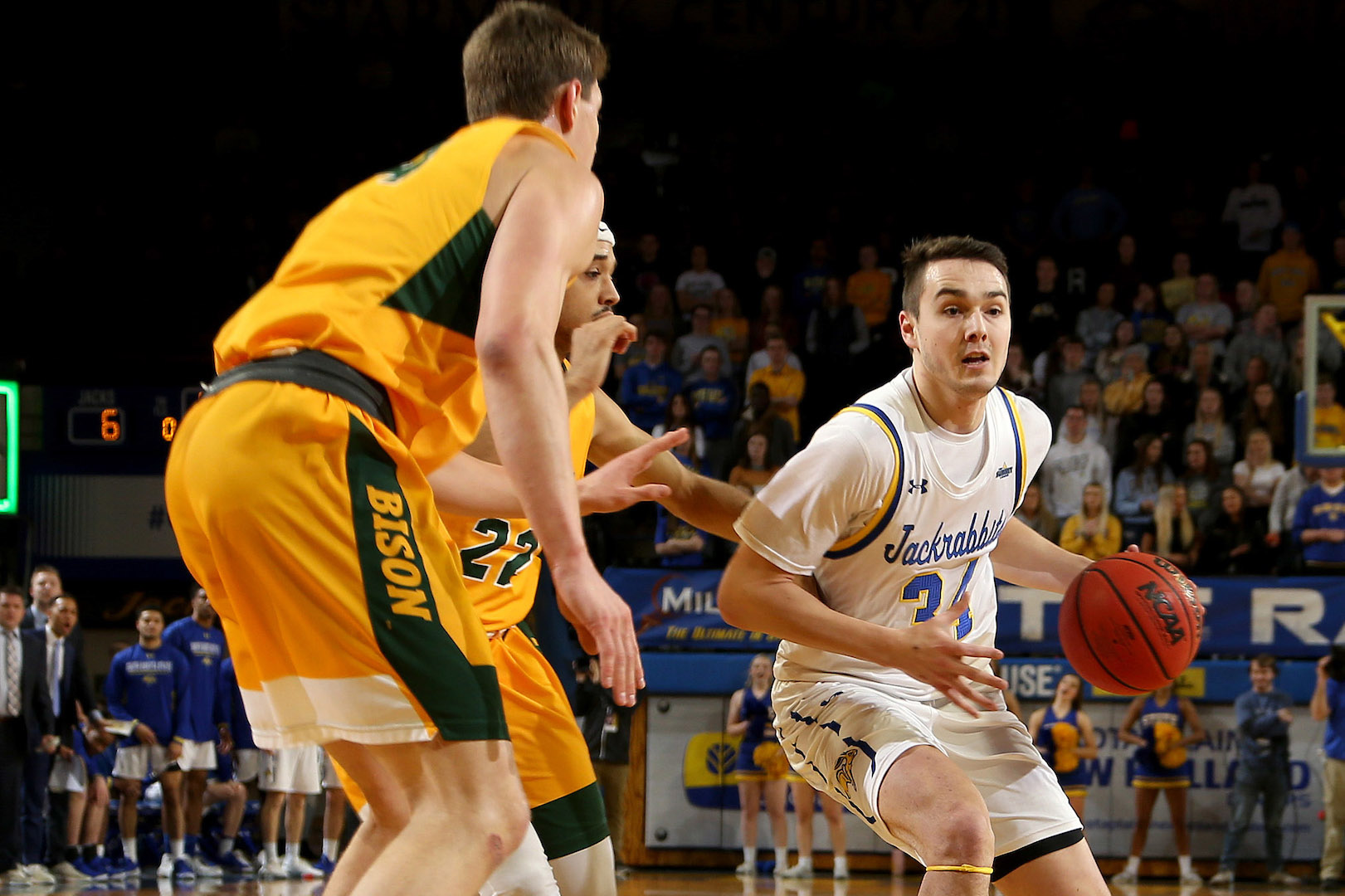 SDSU sophomore Alex Arians has been one of the Jacks' key contributors during their 6-2 start to league play. (Courtesy of SDSU Athletics)